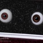 ED Milky #9 +dark rim vs. Eyeco Carmel